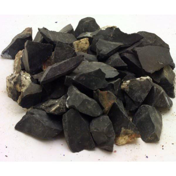 Black Agate Rough For Tumbling