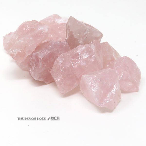 rose quartz rough for tumbling