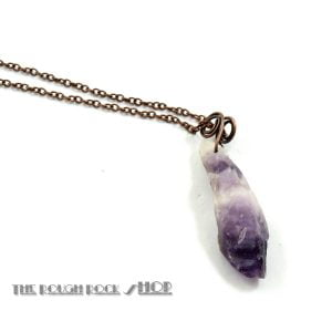 Rough Chevron Amethyst Pendant 498-1
