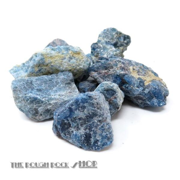 Blue Apatite Rough For Tumbling