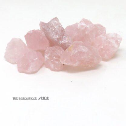 rose quartz rough for tumbling